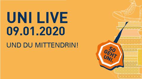 Graphik Uni Live 2019 am 10.01.2019