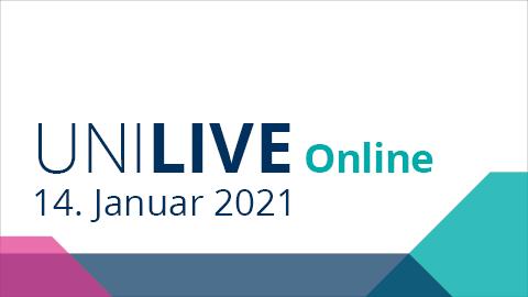 Graphik Uni Live 2021 am 14.01.2021