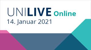 Graphik Uni Live 2021 am 14.1.2021