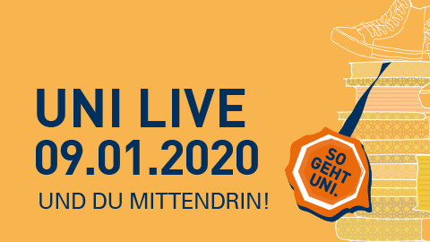 Graphik Uni Live 2019 am 10.01.2019