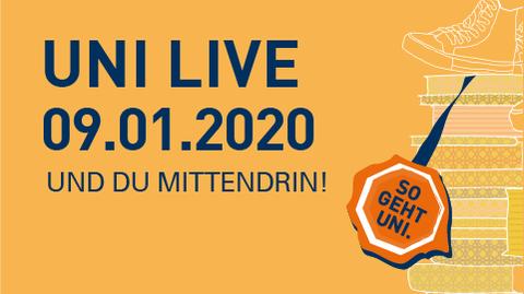 Graphik Uni Live 2020 am 9.1.2020