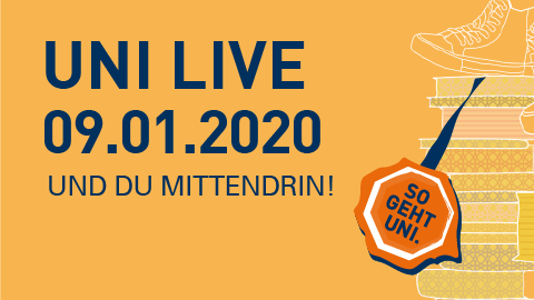 Graphik Uni Live 2020 am 9.1.2020