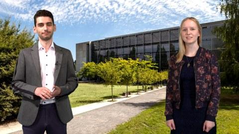 Henriette und Feras vor dem HSZ