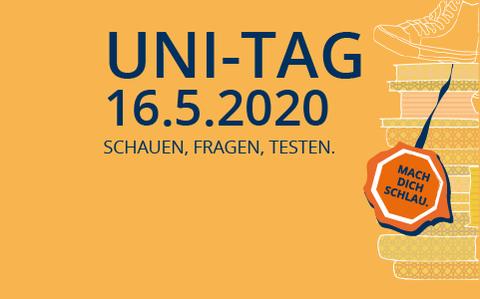 Uni-Tag 2020 Logo mit Datum 16.05.2020
