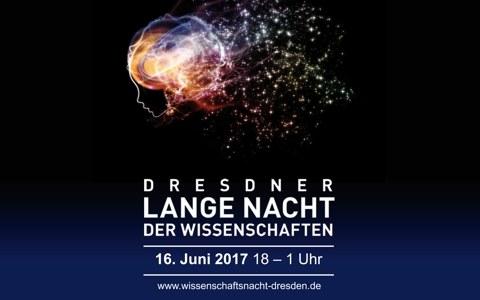 Graphik für Lange Nacht der Wissenschaften in Dresden
