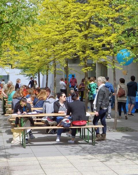 Besucher zum Uni-Tag