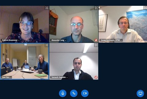 Screenshot showing participants in a video conference