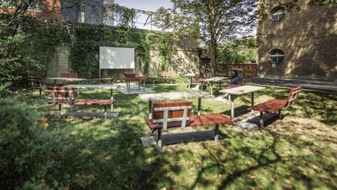 Outdoor seminar room at TU Dresden