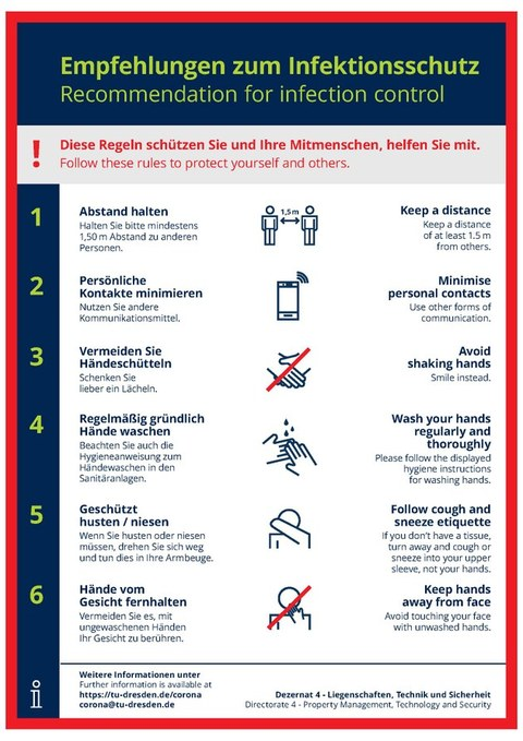 recommendations for infection control