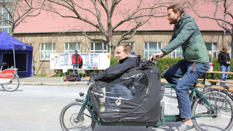 cyclist with cargo bike
