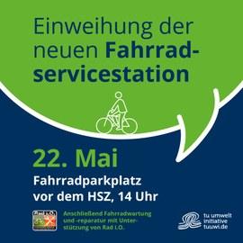 Einweihung Fahrradreparaturstation am 22.05.2019