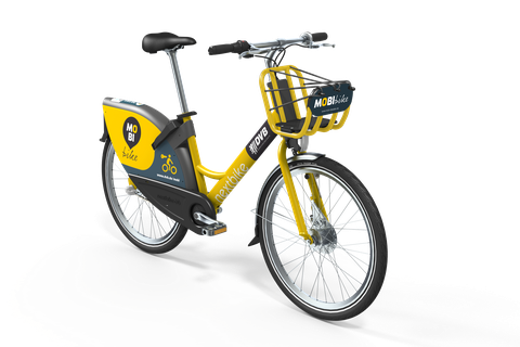 yellow rental bike