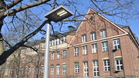 new luminaires with LEDs for outdoor lighting on campus