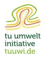 Zeichnung tuuwi Logo, drei farbige gebogene Linien
