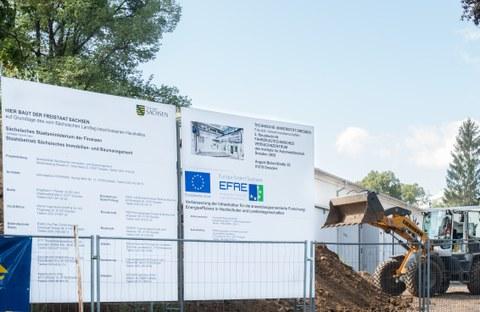 Foto vom Bau des Fahrzeugtechnischen Versuchszentrums