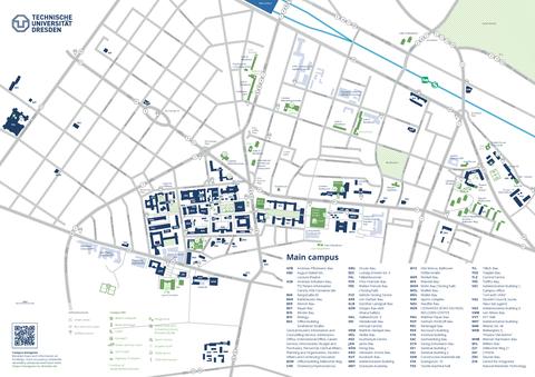 Campusplan-Hauptcampus englisch