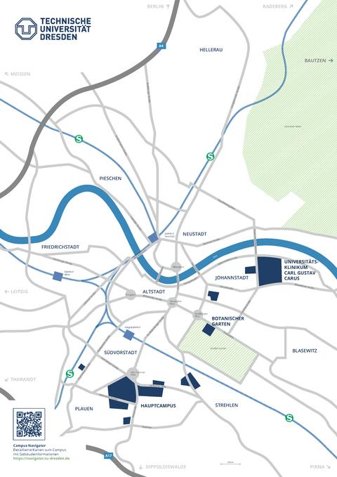 Campusplan-Stadt deutsch