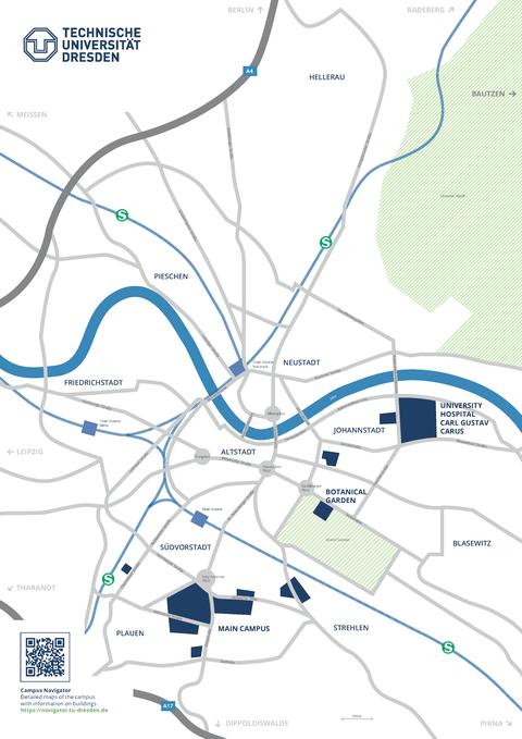 Campusplan-Stadt englisch