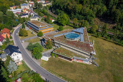 Luftaufnahme vom Campus in Tharandt