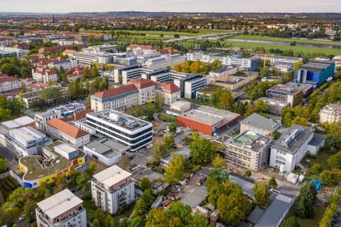Luftaufnahme des Unikliniums in Dresden