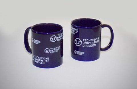 Logo-Tasse blau