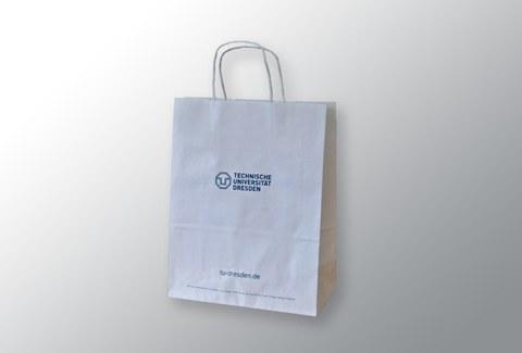Papiertüte mit TU Dresden-Logo