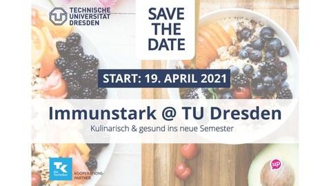 Save the Date Immunstark @ TUD