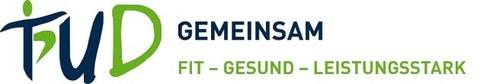 UGM-Logo. TUD gemeinsam fit-gesund-leistungsstark