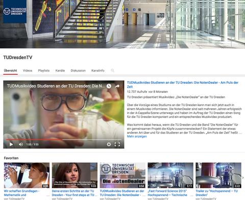 YouTube-Kanal der TU Dresden