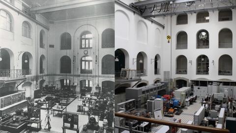 Görges-Bau 1911 und 2019.