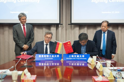 Vertragsunterzeichnung Shanghai