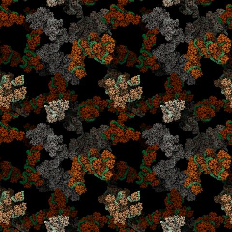 Mikroskopische Aufnahme einer Materialstruktur
