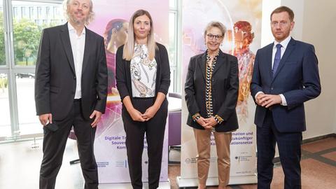 Prof Fitzek, Sarah Franke, Prof. Staudinger, Michael Kretschmer