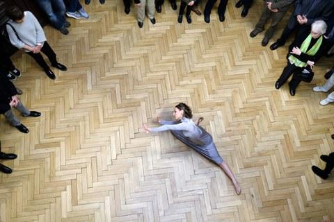 "Vernissage Ausstellung ""hier"", 7. April 2017, Tanz: Elena Cencetti"
