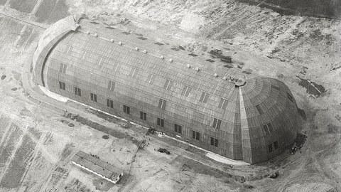 Historische Aufnahme Luftschiffhalle