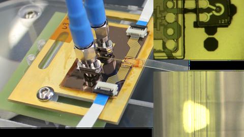Collage aus 3 verschiedenen mikroelektronischen Bauelementen.