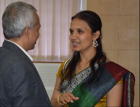 Dr. Manjula Mundakana, Prof. Rudrup Pratap