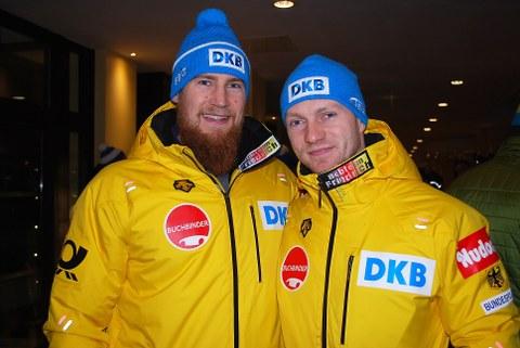 Bob-Olympiasieger Martin Grothkopp und Francesco Friedrich