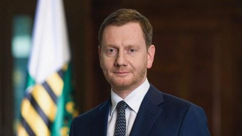 Porträt des Sächsischen Ministerpräsidenten Michael Kretschmer