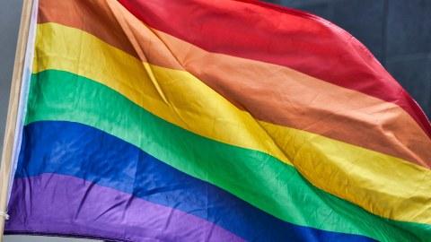 Bild einer Regenbogenfahne