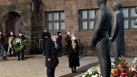Rektorin beim Gedenken am Münchener Platz