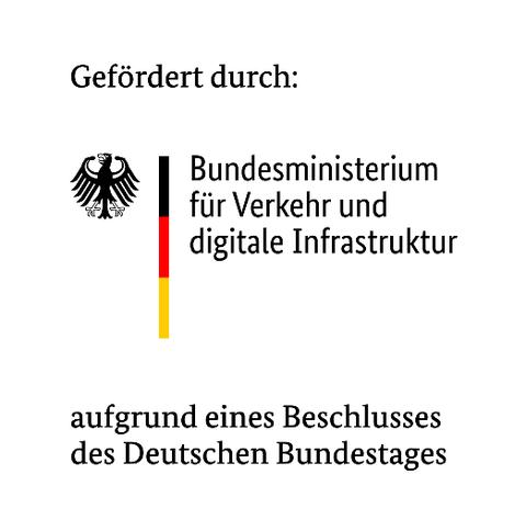 Logo der Förderung durch das Bundesminsteriums für Verkehr und Digitalisierung