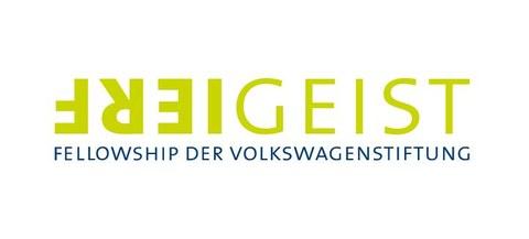 Logo der Freigeist-Fellowships der VolkswagenStiftung in hellgrün auf weiß