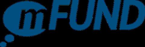 Logo des mFund, blau auf weiß