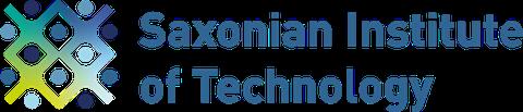 "Logo des ""Saxonian Institute of Technology"" in Petrolblau"