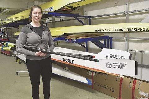 Ruderin Elisabeth Lowke studiert an der TUD Bauingenierwesen.