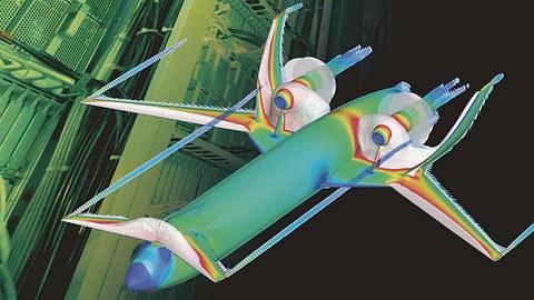 Produktvirtualisierung eines Flugzeugs, wie sie das CARA-Cluster Forschern möglich macht.