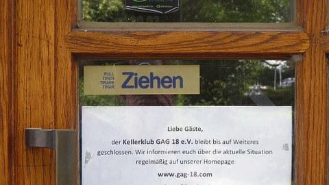 Auch der Kellerklub GAG 18 musste am 16.März schließen.