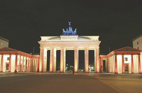 Das Brandenburger Tor in Berlin, lange Symbol der Teilung, heute Sinnbild der Einheit Deutschlands.