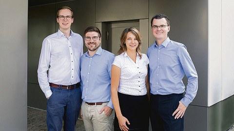 Das Gründungsteam von Semodia: Henry Bloch, Jan Funke, Anna Menschner und Stephan Hensel.